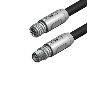 Power Cable T Coded M12 Male to Female 2 - IO-Link Master 8-EIP